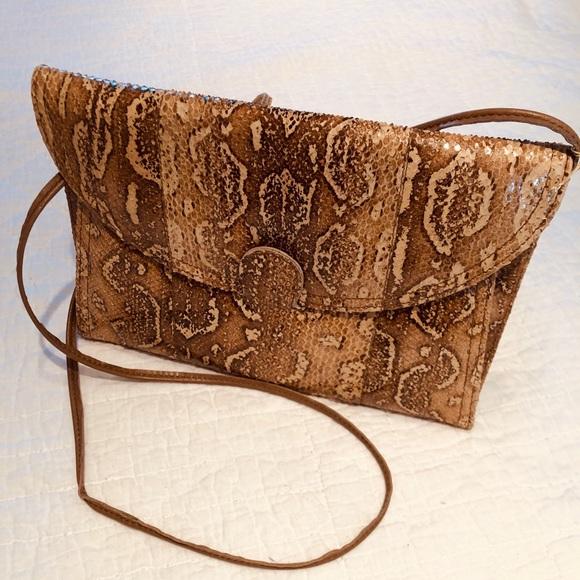 Vintage Handbags - Vintage Snakeskin Shoulder Bag